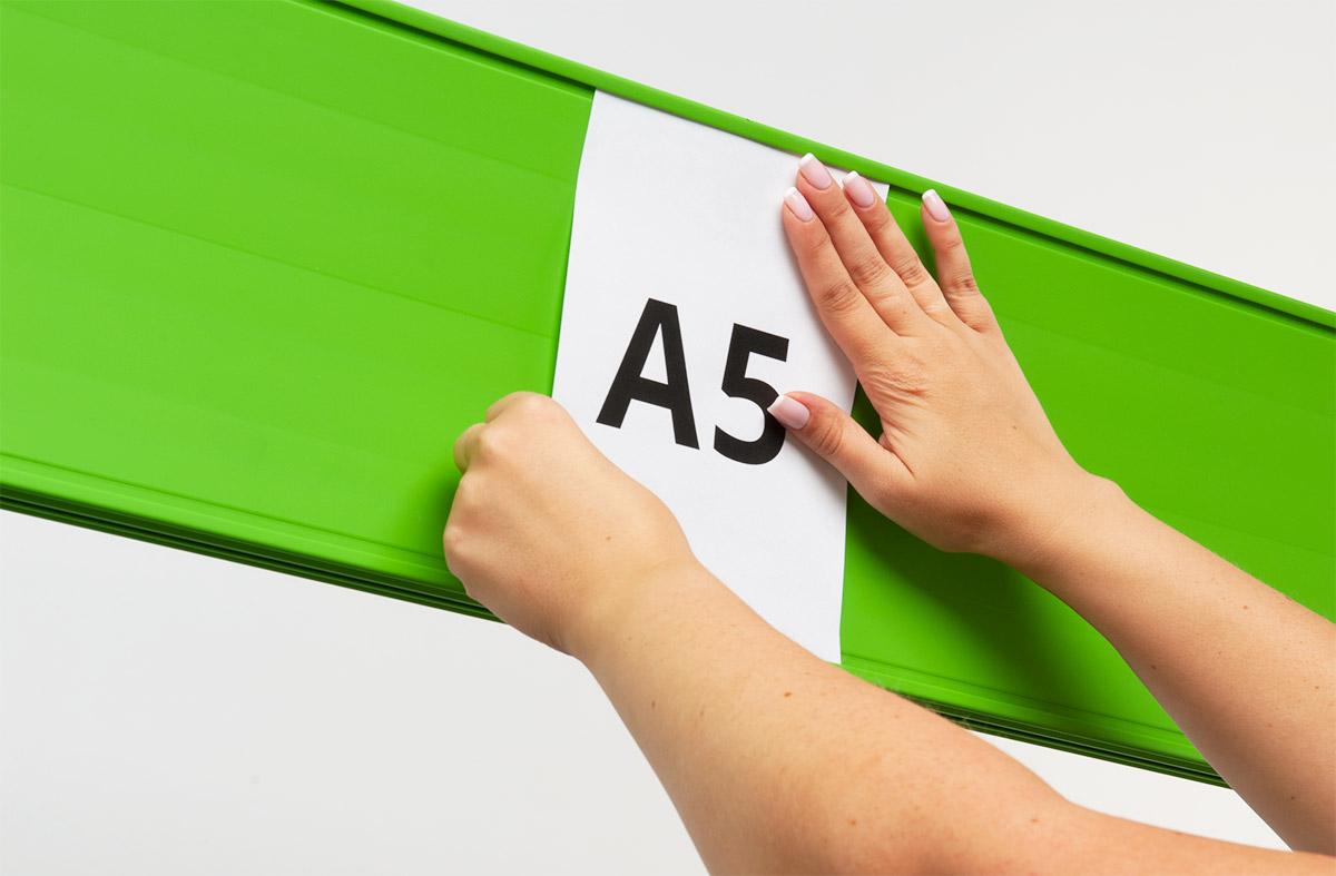 listwa posterline zielona, kartka A5 A4