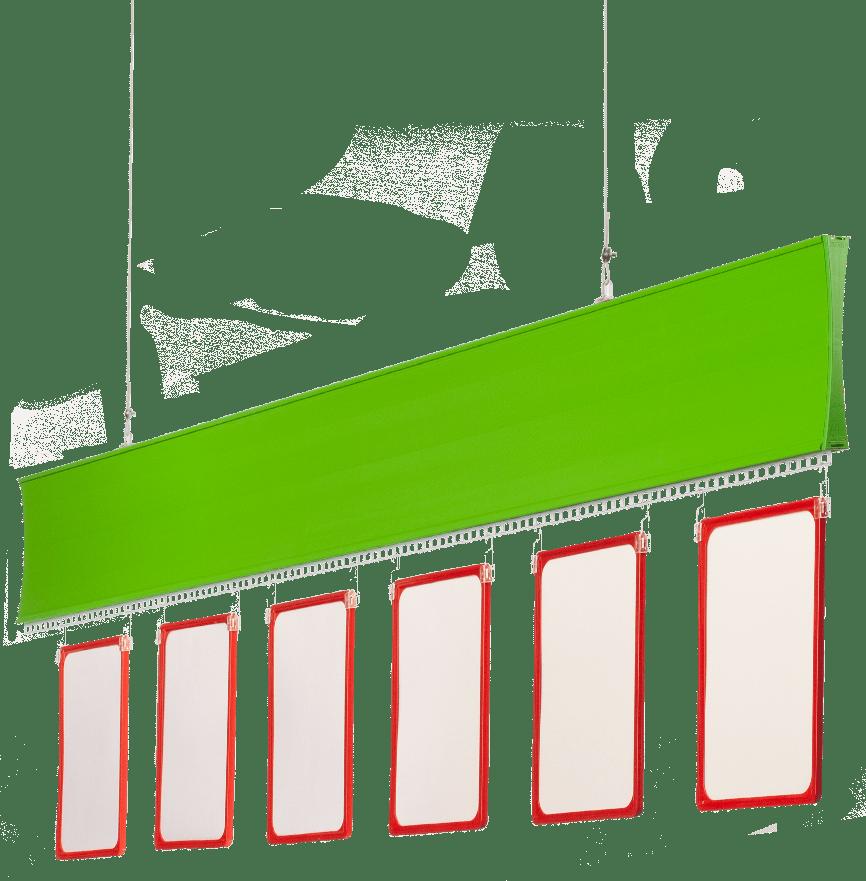 Listwa Posterline zielona, tabliczki