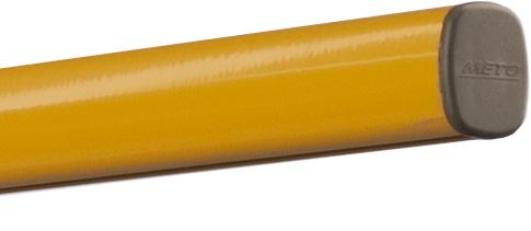 tuba do podwieszania meto, profil alu, rura, żółta